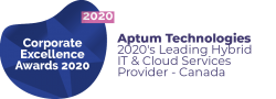 Corporate Excellence Awards 2020 - Aptum 2020's leading hybrid IT and cloud services provider in Canada
